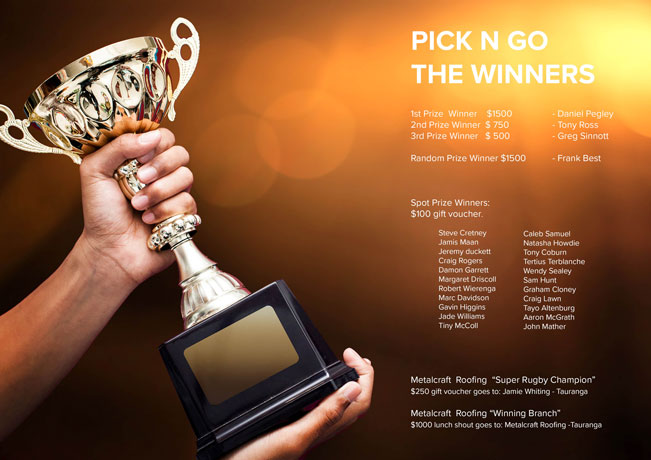 Metalcraft PicknGo Winners Announced