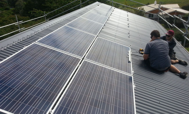 Taranaki Residential House solar Installation 02