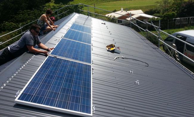 Taranaki Residential House solar Installation 04