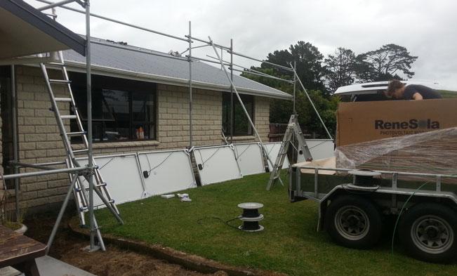 Taranaki Residential House solar Installation 05